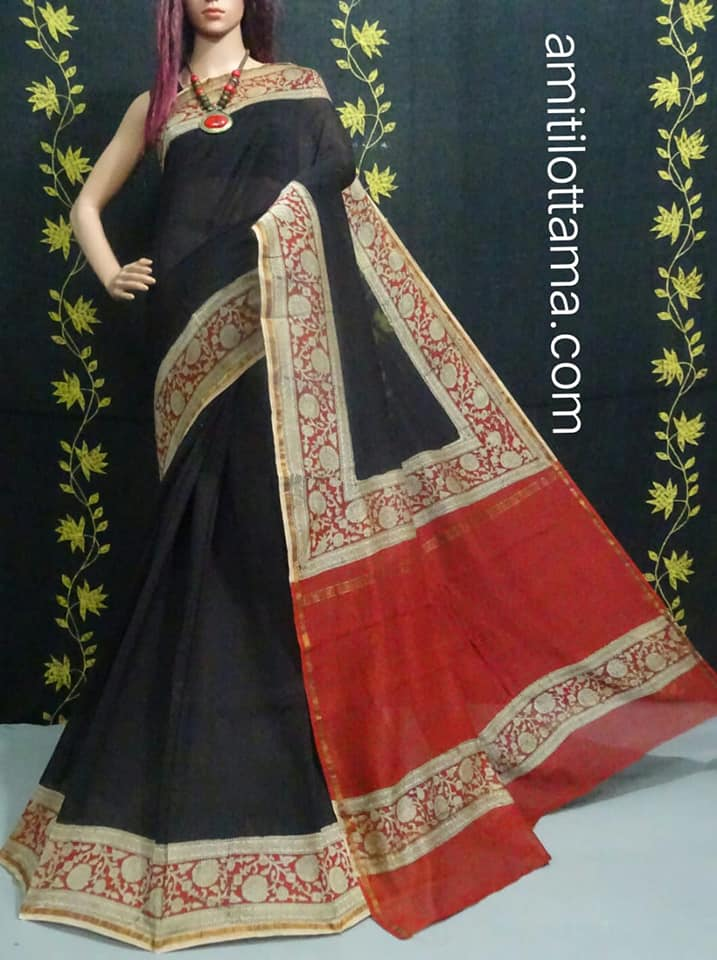 Bagru Print Black Chanderi